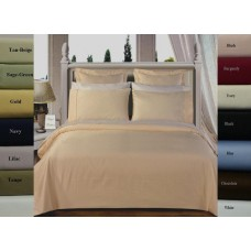 300 Thread Count Egyptian Cotton. Solid Duvet Cover Set. - Twin/XL